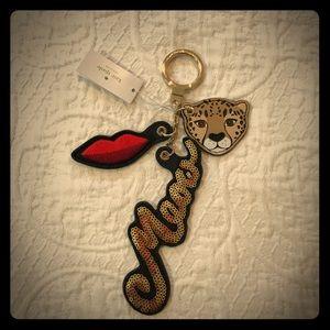 NWT Kate Spade Leopard Novelty Mix Keychain